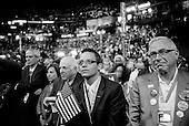 Denver, Colorado.August 25, 2008..The opening day of the Democratic National Convention in the Pepsi Center. The crowd listens to Michelle Obama, the wife of Illinois Sen. Barak Obama, democratic presidential candidate as she speaks at the convention.