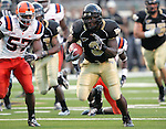2 September 2006: Wake Forest's Micah Andrews (3) looks for downfield running room. Wake Forest defeated Syracuse 20-10 at Groves Stadium in Winston-Salem, North Carolina in an NCAA college football game.