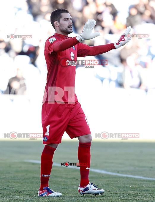 Getafe's Miguel Angel Moya during La Liga match.December 01,2012. (ALTERPHOTOS/Acero) ©/NortePhoto