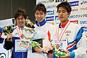 (L to R) Yuya Horihata (JPN), Kosuke Hagino (JPN), Daiya Seto (JPN), APRIL 2, 2012 - Swimming : JAPAN SWIM 2012 Men's 400m Individual Medley Victory Ceremony at Tatsumi International Swimming Pool, Tokyo, Japan. (Photo by Yusuke Nakanishi/AFLO SPORT) [1090]