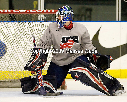 Adam Murray (US - 30) - The US practiced the morning of Sunday, April 19, 2009, prior to their gold medal game against Russia in the 2009 World Under 18 Championship at the Urban Plains Center in Fargo, North Dakota.