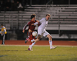 Oxford High's Edward Terry (10) vs. Neshoba Central in MHSAA playoff soccer action in Oxford, Miss. on Tuesday, January 22, 2013. Oxford won 3-1.