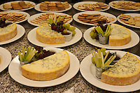 Stilton, celery, and grapes, with crackers served at a feast at an Oxford college.