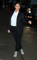 "Kim Kardashian arrives at the ""Late Show"" - New York"