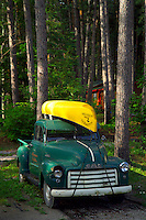 Algonquin Park, Ontario, Canada, July 2006. Every third car has a canoe on the roof to get to one of the many lakes. The Algonquin Provincial Park consists of many lakes that can be explored by canoe and which are connected by portages. Photo by Frits Meyst/Adventure4ever.com