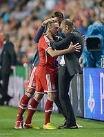 Fussball Uefa Supercup Finale 2013: FC Bayern Muenchen - FC Chelsea