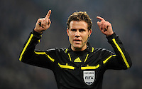 FUSSBALL   1. BUNDESLIGA   SAISON 2011/2012   18. SPIELTAG FC Schalke 04 - VfB Stuttgart            21.01.2012 Schiedsrichter Felix Brych