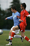 Carolina's David Boole (17) and Virginia's Joe Vide (10) on Sunday, November 27th, 2005 at Fetzer Field in Chapel Hill, North Carolina. The University of North Carolina Tarheels defeated the University of Virginia Cavaliers 2-1 in a NCAA Men's Soccer Tournament Round of 16 game.