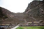 An Inca sun temple in Ollantaytambo Peru