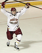 Teddy Doherty (BC - 4) - The Boston College Eagles defeated the visiting University of Massachusetts Lowell River Hawks 6-3 on Sunday, October 28, 2012, at Kelley Rink in Conte Forum in Chestnut Hill, Massachusetts.