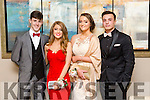 Mike Hoare, Kelly Tobin, Robyn O'Callaghan, Simon Kedzierski at the CBS The Green Students' Debs Ball at Ballyroe Heights Hotel on Thursday night