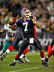 7 December 2008: Buffalo Bills' quarterback J.P. Losman in action against the Miami Dolphins during the first regular season NFL game ever to be played in Canada. The Dolphins defeated the Bills 16-3 at the Rogers Centre in Toronto, Ontario. ..Mandatory Photo Credit: Ed Wolfstein Photo