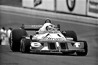 WATKINS GLEN, NY: Patrick Depailler drives the  Tyrrell P34 7/Ford Cosworth DFV during the United States Grand Prix East on October 2, 1977, at the Watkins Glen Grand Prix Race Course near Watkins Glen, New York.