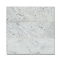 Description: Giovanni Barbieri 10x30 cm approximately 4 x 12 in. Lucido Bianco Carrara<br /> Product Number: NRFRS10X30-LBC