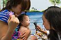 Children's Physicians, Jupiter, Fl. Patient's parent,  release 20120522005, left, her daughter, release 20120522006, Jocelyn Hu, class of 2014.