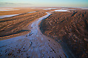 Australia, South Australia; Dry creek delta at salt lake