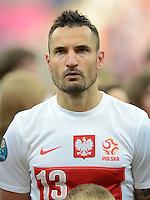FUSSBALL  EUROPAMEISTERSCHAFT 2012   VORRUNDE Polen - Griechenland      08.06.2012 Marcin Wasilewski (Polen)