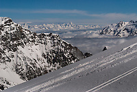 ski trail at heights