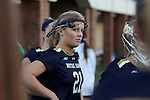 23 February 2017: Notre Dame's Grace Miller. The Elon University Phoenix hosted the University of Notre Dame Fighting Irish at Rudd Field in Elon, North Carolina in a 2017 Division I College Women's Lacrosse match. Notre Dame won the game 16-7.