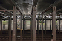 A subway train in New York departs the 23rd Street IND station on Sunday, October 2, 2016. (© Richard B. Levine)