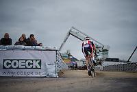 Laurens Sweeck (BEL/ERA-Murprotec) attacking the sand stroke<br /> <br /> Jaarmarktcross Niel 2015  Elite Men &amp; U23 race