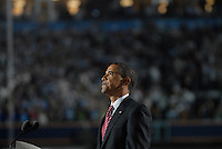 Democratic presidential nominee Barack Obama spoke to over 75,000 people at Invesco Field in Denver Colorado the final night of the 2008 Democratic National Convention, August 28, 2008.