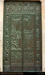Bronze Doors, Glorification of the Virgin, Enrico Manfrini 1958, Cathedral of Siena, Santa Maria Assunta, Siena, Italy