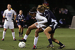 04 December 2009: North Carolina's Jessica McDonald (left) and Notre Dame's Haley Ford (right). The University of North Carolina Tar Heels defeated the Notre Dame University Fighting Irish 1-0 at the Aggie Soccer Complex in College Station, Texas in an NCAA Division I Women's College Cup Semifinal game.