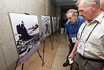 British Korean War veterans John Lees from Telford (r) and Robison Brown from Concett, County Durham, look at photos of the Korean War shown at the Paju Mt. Odu Unification Observation Platform 30 minutes from Seoul, South Korea on 24 June 2010..Photographer: Rob Gilhooly