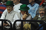 "Fans in green hats at Ole Miss vs. Arkansas at the C.M. ""Tad"" Smith Coliseum in Oxford, Miss. on Saturday, January 19, 2013. Mississippi won 76-64. (AP Photo/Oxford Eagle, Bruce Newman)"