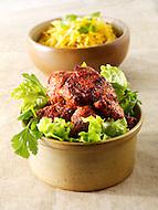 Indian Chicken Tikka with naan bread & salad