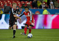 16 April 2011: D.C. United midfielder Dax McCarty #10 and Toronto FC midfielder Oscar Cordon #16 in action during an MLS game between D.C. United and the Toronto FC at BMO Field in Toronto, Ontario Canada..D.C. United won 3-0.