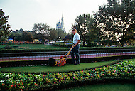 Orlando, Florida - Circa 1986. Disney World staff prepare for visitors. Disney World is a world-renowned entertainment complex that opened October 1, 1971 in Lake Buena Vista, FL. Now known as the Walt Disney World Resort, the property covers 25,000 acres and has an annual attendance of 52.5million people.