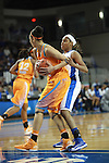 UK guard Bria Goss attempts to block Tennessee forward Cierra Burdick during the first half of the UK Hoops vs. Tennessee at Memorial Coliseum in Lexington, Ky., on Sunday, March 3, 2013. Photo by Emily Wuetcher | Staff....