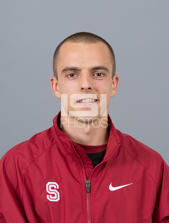 STANFORD, CA - SEPTEMBER 24, 2014--Luke Lefebure, with Stanford University Cross Country Team