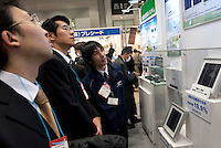 Mitsubishi Electric's solar cell is one of the world's most efficient at 18.9%, PV Expo 2009, Tokyo International Exhibition Center, Tokyo, 26 February 2009.