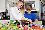 April 28, 2012. Davidson, NC.. Jake and Lachlan Johnson, and their sister Erin (not pictured), are the inventors and CEOs of Flipoutz, an interactive bracelet that allows kids to trade and share coins that fit into the wristband of the bracelet.