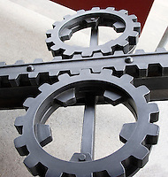 GEAR MECHANISM<br /> Locher Rack System For A Cog Rail Train<br /> Rack and pinion system makes it possible for the train to climb a steep incline
