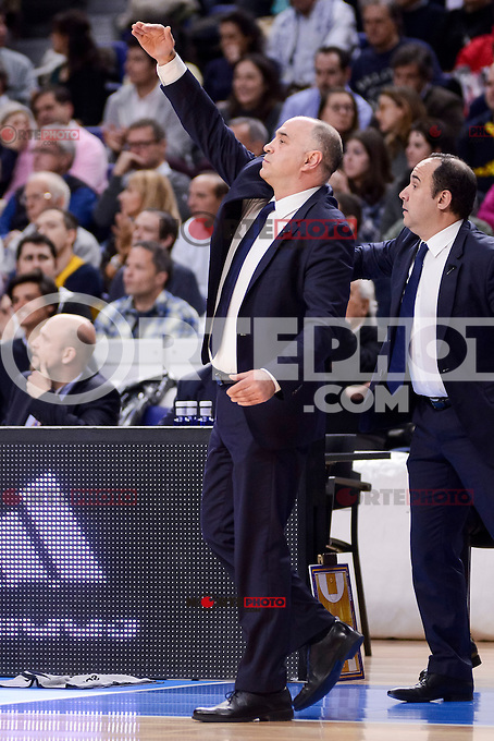 Real Madrid's coach Pablo Laso during Turkish Airlines Euroleague match between Real Madrid and CSKA Moscow at Wizink Center in Madrid, Spain. January 06, 2017. (ALTERPHOTOS/BorjaB.Hojas)