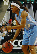 Tar Heel Italee Lucas calls a play. (Photo by Rob Rowe)