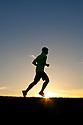 PE00265-00...WASHINGTON - Pierce Prohovost jogging in Edmonds. (MR# P9)