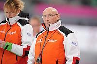 SCHAATSEN: HAMAR: Vikingskipet, 12-01-2014, Essent ISU European Championship Allround, Floor van Leeuwen (assistent coach Team LiGA), ©foto Martin de Jong