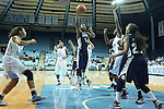 14 November 2012: Georgetown's Sugar Rodgers (14) attempts a layup. The University of North Carolina Tar Heels played the Georgetown University Hoyas at Carmichael Arena in Chapel Hill, North Carolina in an NCAA Division I Women's Basketball game, and a semifinal in the Preseason WNIT. UNC won the game 63-48.