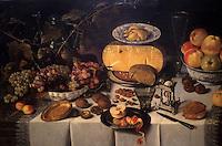 Europe/Belgique/Flandre/Province d'Anvers/Anvers :  Le musée Mayer Van Den Bergh - Détail nature morte Ro Elot Koets (1625)