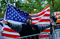 NEW YORK, NY - May 04: A supporter of U.S. president Donald Trump argues with Activists as they take part in a protest near the USS Intrepid where U.S. president Trump is hosting the visit of Australian Prime Minister Malcolm Turnbull late today after a delay on his schedule on May 4, 2017 in New York City. US President Donald Trump is returning to NYC after taking office in Washington as president,  Photo by VIEWpress/Eduardo MunozAlvarez
