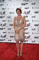 Sarah McLachlan, winner of the 2009 Allan Waters Humanitarian Award, poses on the media wall, Saturday March 28th, 2009, at the Westin Bayshore Hotel in Vancouver.  (Scott Alexander/pressphotointl.com)