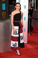 Daisy Ridley at the 2017 EE British Academy Film Awards (BAFTA) held at The Royal Albert Hall, London, UK. <br /> 12 February  2017<br /> Picture: Steve Vas/Featureflash/SilverHub 0208 004 5359 sales@silverhubmedia.com