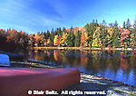 Northeast PA Landscape, autumn color lake scene, Promised Land State Park