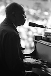 """Sunnyland Slim, Monterey Jazz Festival, 9/20/75.17-13-35.  American blues pianist, who was born in the Mississippi Delta and later moved to Chicago, to contribute to that city's post-war scene as a center for blues music. Chicago's broadcaster and writer, Studs Terkel, said Sunnyland Slim was """"a living piece of our folk history, gallantly and eloquently carrying on in the old tradition."""""""