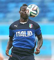 Mario Balotelli of Italy during training ahead of tomorrow's Group D match vs Uruguay